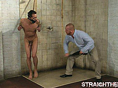 daryl stripped tied flogged nipple clamped
