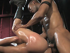 restraints dick hung pegs interracial