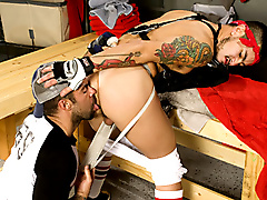 jock lockerroom hairy sucking fucking rimming