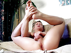 micah andrews solo masturbation foot fetish blond hair trimmed average dick short young sucking jerking bedroom socks american