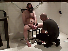 comfortable chair edging electro masks masturbation steel bondage room