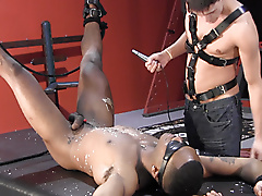 restraints bdsm twinks interracial masks leather electro nipple play anal whip
